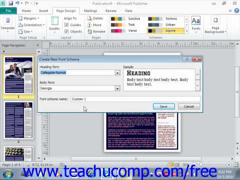 ms publisher 2010 tutorial