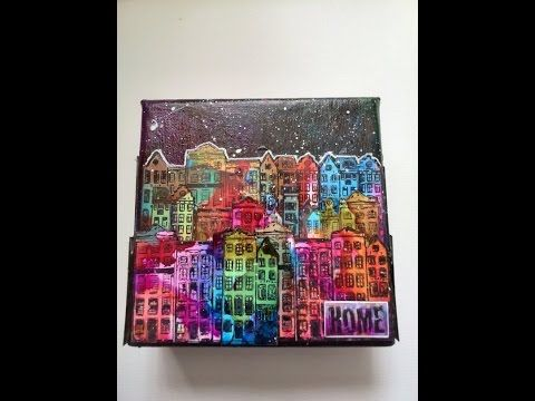 alcohol ink on canvas tutorial