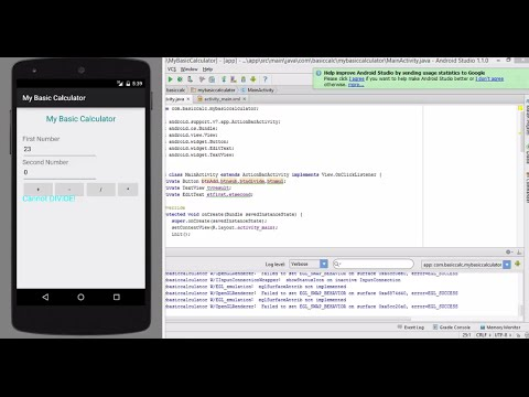 my first android app tutorial