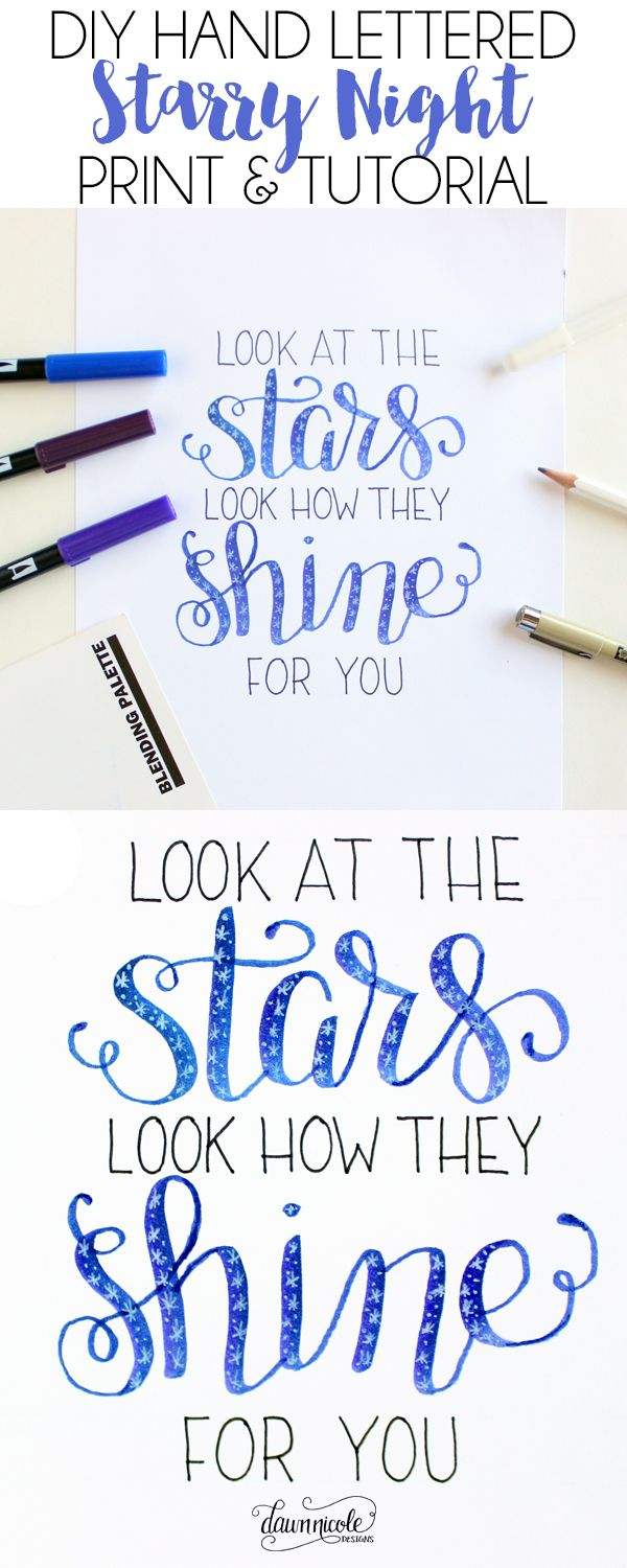 hand lettering fonts tutorial