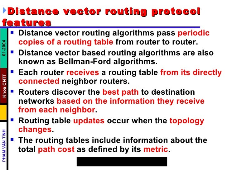 distance vector routing tutorial
