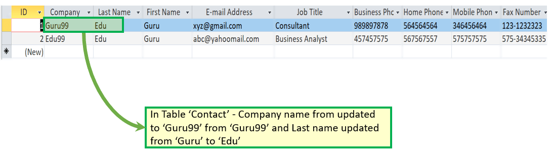 ms access tutorial with examples